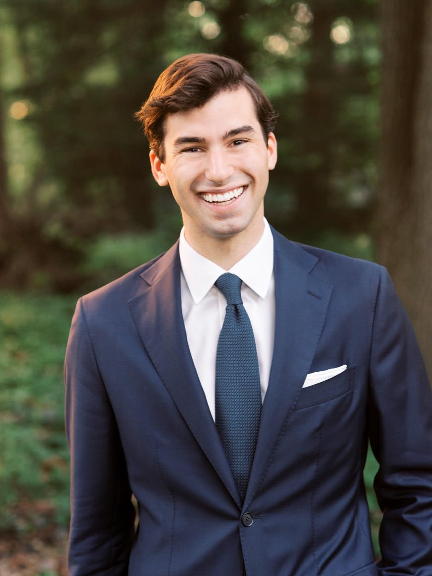 Headshot of Alex Schon, Philadelphia's premier luxury wedding photographer, for about page