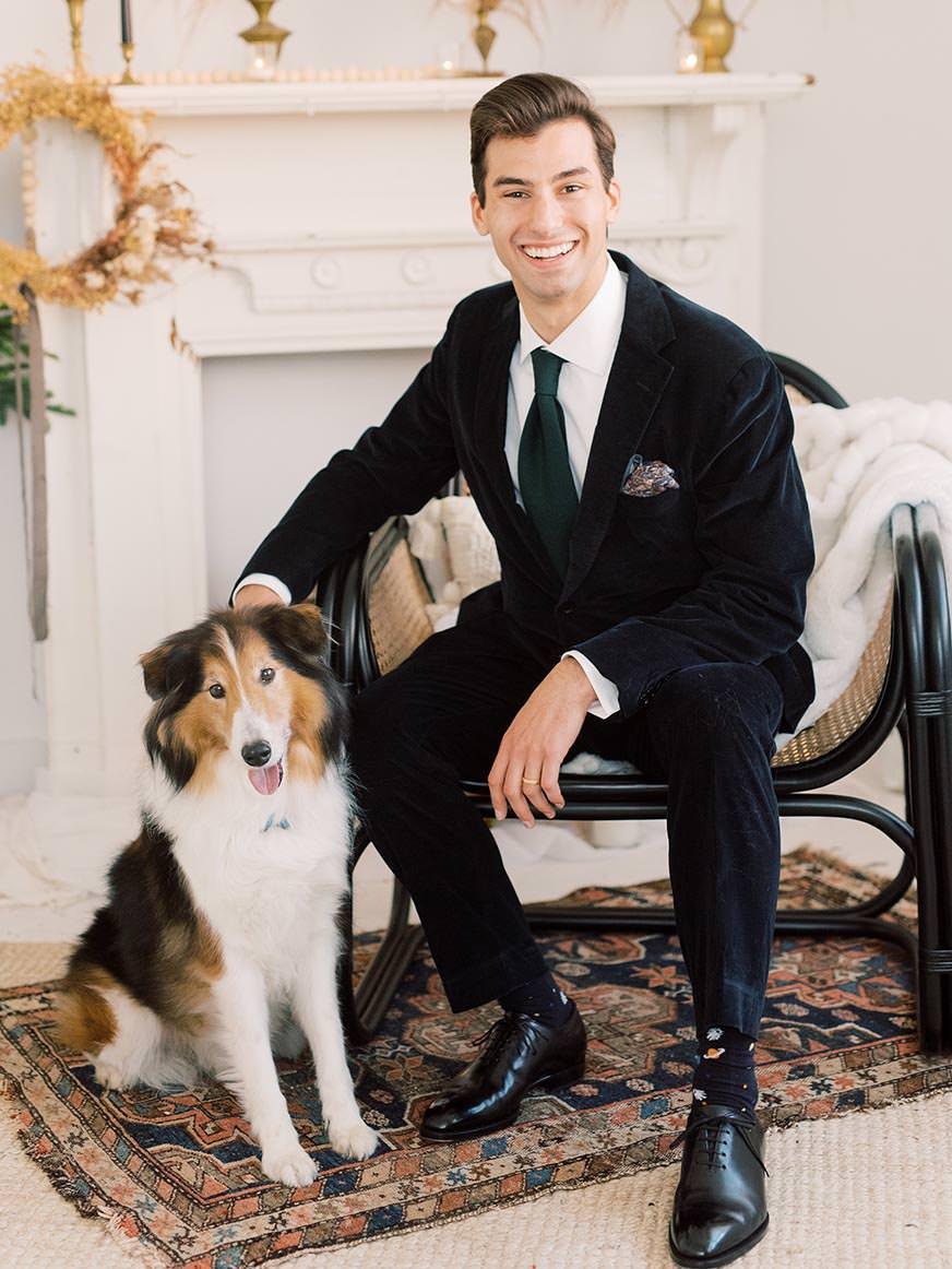 Philadelphia Wedding Photographer Alex Schon with his dog Landon